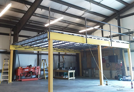 Maryland used mezzanines for Steel mezzanine design